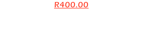 Package 2 = R400.00 1 x CDs with: 30 x High resolution images fully edited for printing. Plus the same 30 images in  Low Resolution for social Media use.